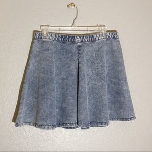 Topshop denim circle skirt